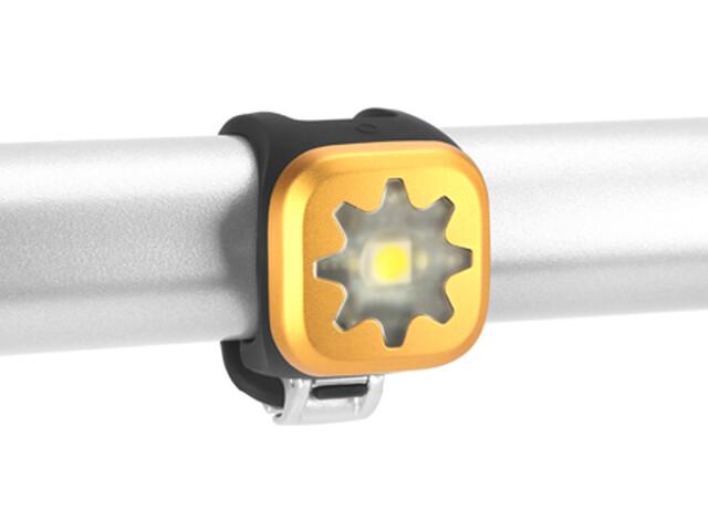Knog Blinder 1 LED blanco, Cog, gold